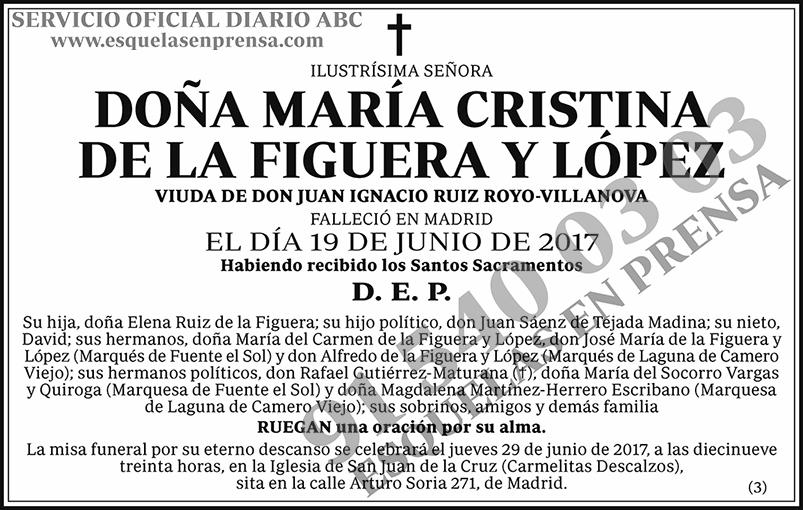 María Cristina de la Figueroa y López